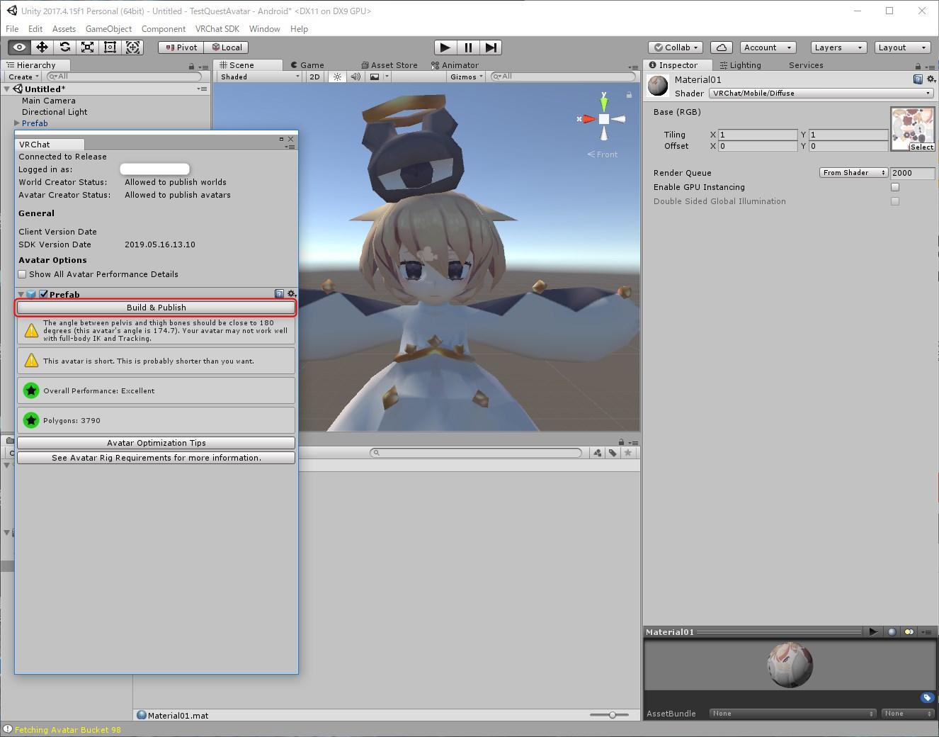 VRChat】OculusQuest用アバターのアップロード方法! | シャオ